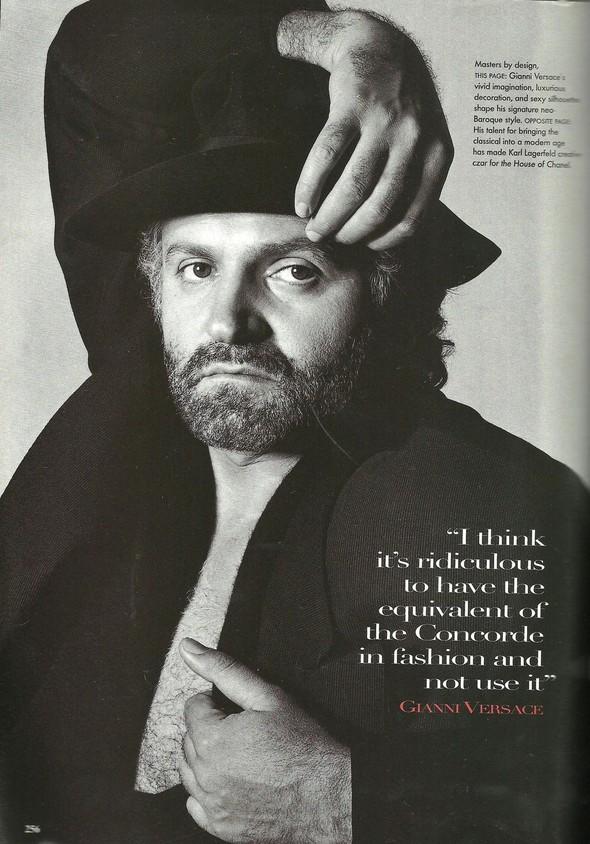 Архивная съёмка: Модели и дизайнеры в объективе Ирвинга Пенна для Vogue, 1995. Изображение № 9.