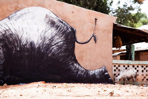 Животный стрит-арт от бельгийского граффитчика ROA. Изображение № 22.