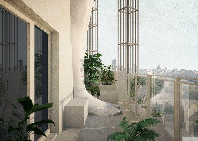 Студентка представила концепт небоскрёба в стиле классицизма. Изображение № 7.