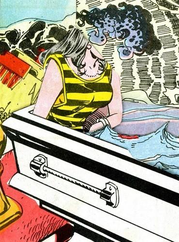 Зловещие и мрачные ретро-иллюстрации, переделанные из детских комиксов. Изображение № 2.