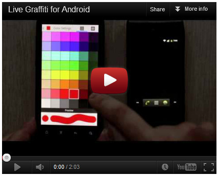 Приложение Live Graffiti для Android. Изображение № 5.