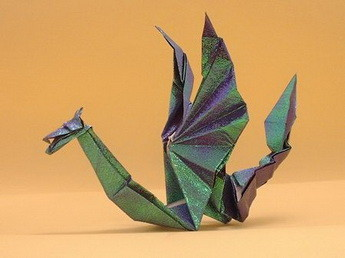 Новогодние драконы в технике оригами. Изображение № 2.