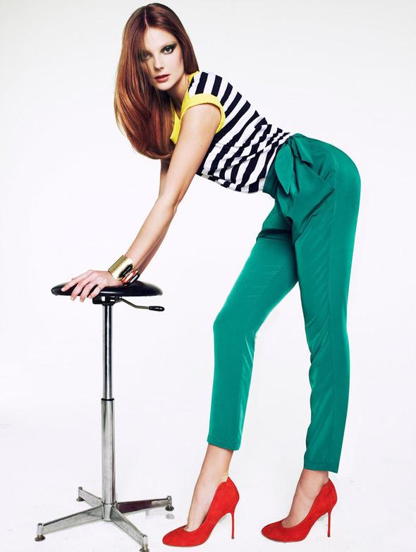 Изображение 6. Лукбук: Mango Color & Stripes.. Изображение № 6.