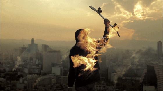 Огненные скейтбордисты. Изображение № 1.