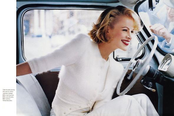 Архивная съёмка: Эмма Балфор для Marie Claire, 1995. Изображение № 3.