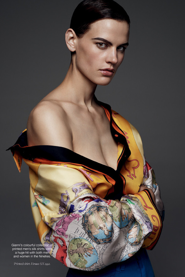 Съёмка: Саския де Брау в Versace для Industrie. Изображение № 3.