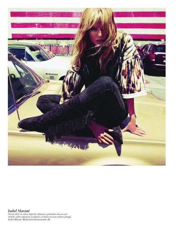 Съёмка: Аризона Мьюз, Лара Стоун, Наташа Поли и другие модели во французском Vogue. Изображение № 27.