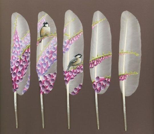 Рисунки на перьях от Ян Дави. Изображение № 3.