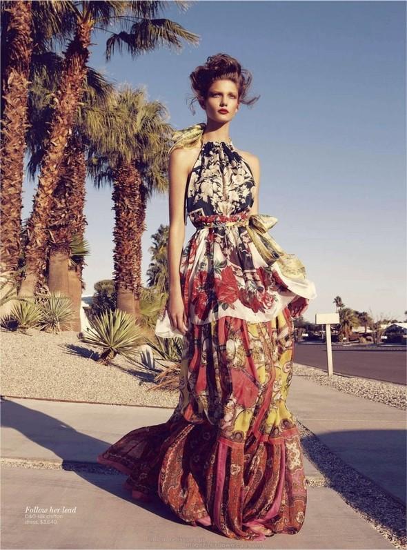Съёмка: Марло Хорст и Кендра Спирс для австралийского Vogue. Изображение № 20.