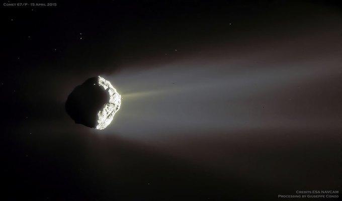 Фото дня: шлейф кометы Чурюмова — Герасименко. Изображение № 1.