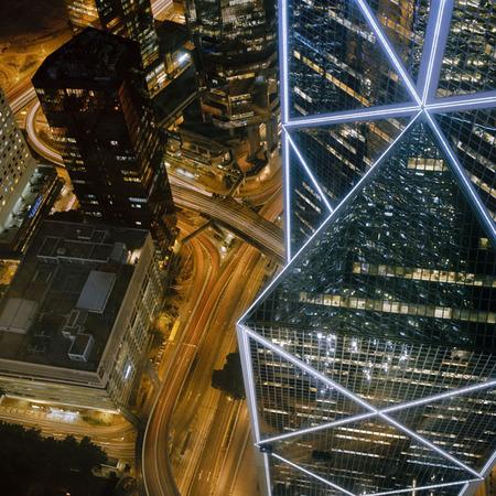 Мегаполисы ночью Гонконг, Дубаи, Нью-Йорк, Шанхай. Изображение № 9.