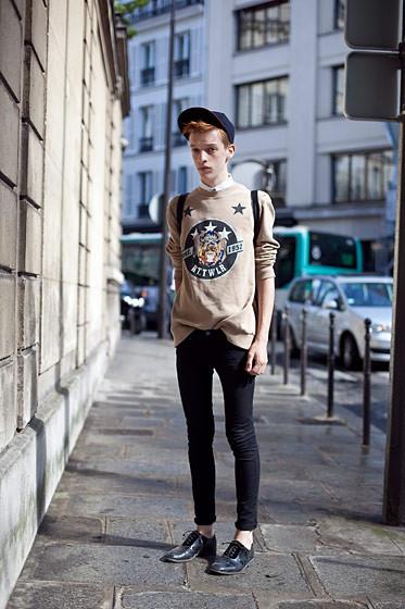 Уличный стиль на Неделе высокой моды в Париже. Изображение № 69.