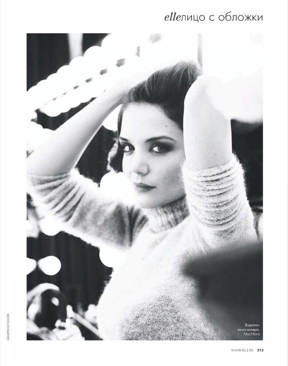 Съёмка: Кэти Холмс для Elle. Изображение № 1.