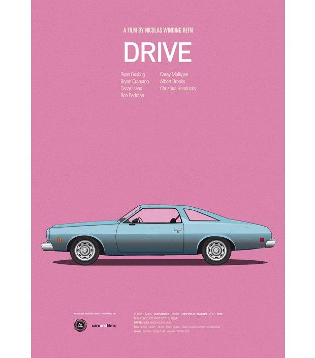 Хиты Голливуда представлены в постерах с культовыми авто . Изображение № 3.