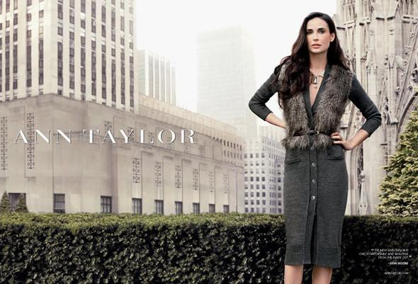 Кампания: Деми Мур для Ann Taylor Fall 2011. Изображение № 2.
