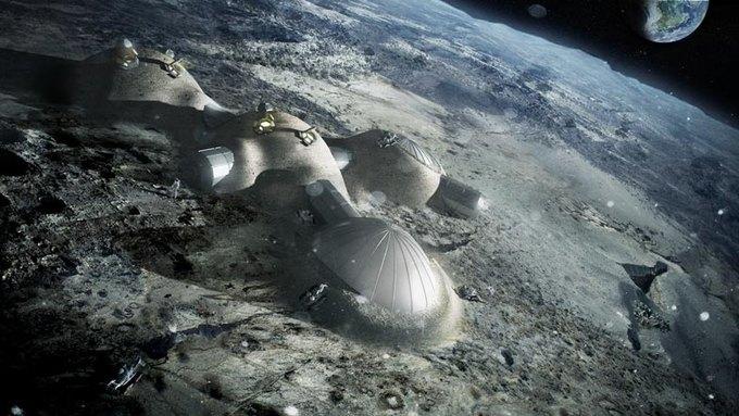 Архитекторы планируют построить жилища на Луне с помощью 3D-принтера. Изображение № 1.