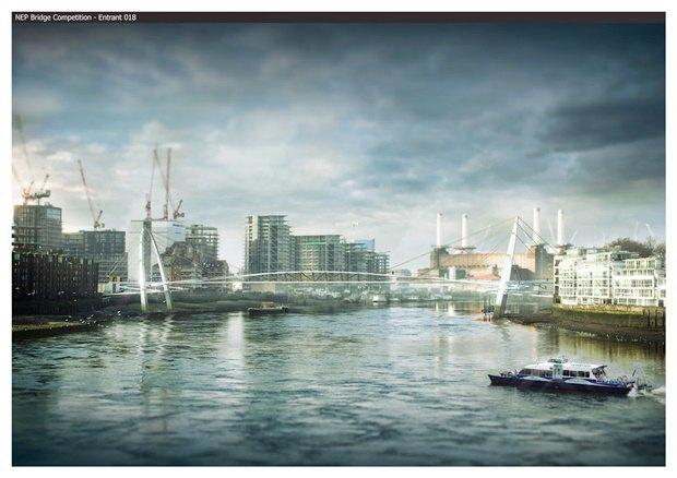 Выложены 74 проекта нового моста через Темзу. Изображение № 36.