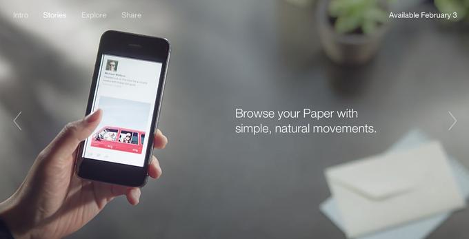 Facebook запускает новостное приложение Paper. Изображение № 3.