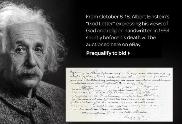Рукописное письмо Эйнштейна продадут с аукциона. Изображение № 1.