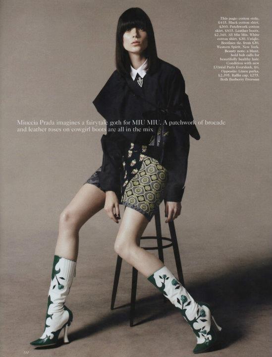Съёмка: Дэниел Джексон для британского Vogue. Изображение № 4.