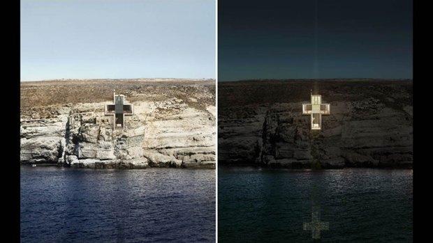 Архитектура дня: концепт церкви-креста на отвесной скале. Изображение № 11.