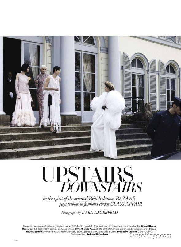 Съёмка: Карл Лагерфельд для Harper's Bazaar. Изображение № 1.