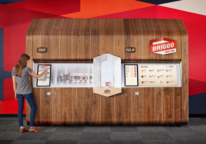 Ив Беар спроектировал «умную» кофейню, управляемую смартфоном. Изображение № 1.