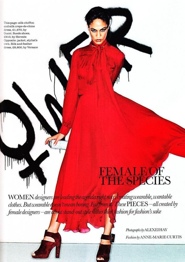 Съёмка: Джоан Смоллс для Elle. Изображение № 1.