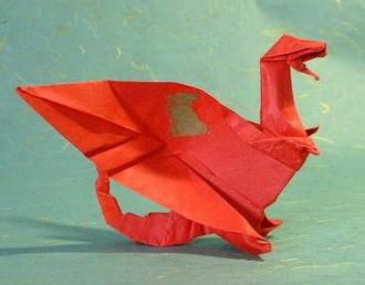 Новогодние драконы в технике оригами. Изображение № 9.