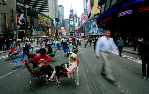 Площадь Таймс-сквер стала пешеходной. Изображение № 5.