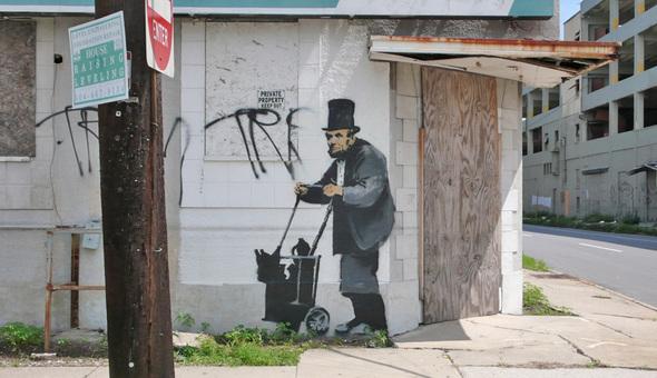 Изображение 1. Banksy (уличная мышь – герой).. Изображение № 2.