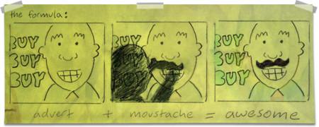 Всякой рекламе нужны хорошие усы. Изображение № 1.