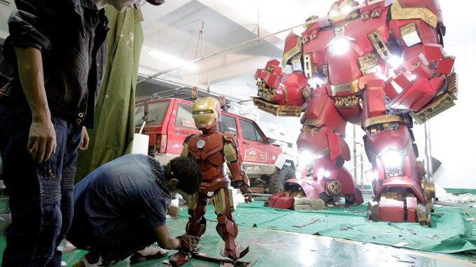 Житель Китая собрал доспехи Железного человека в гараже . Изображение № 5.