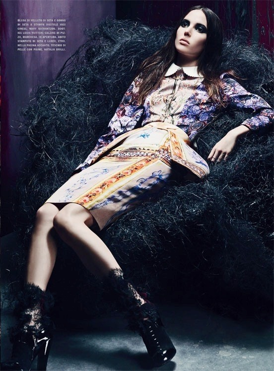 Съемка: Аризона Мьюз и Руби Олдридж для Vogue Италия. Изображение № 1.