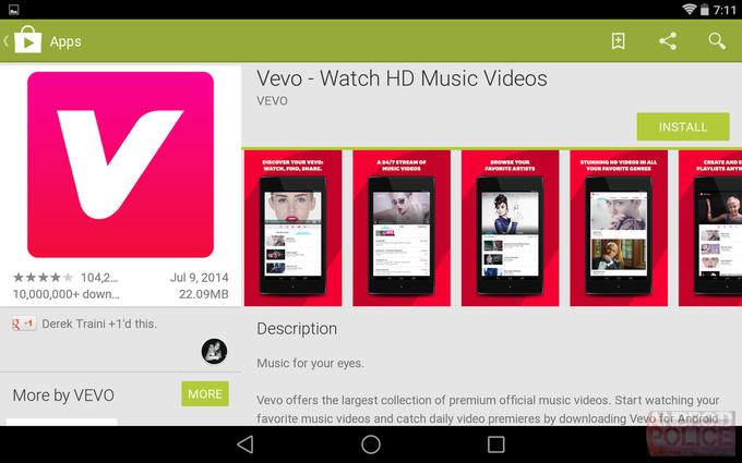 Текущий интерфейс Google Play для планшетов. Изображение № 1.