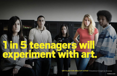 Рекламная кампания об арт-школе с пародией на наркотики. Изображение № 1.