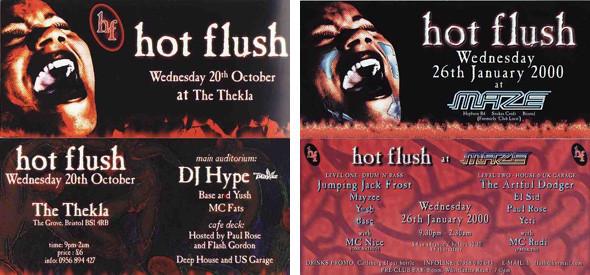 Флаеры первых вечеринок Hotflush. Изображение № 4.