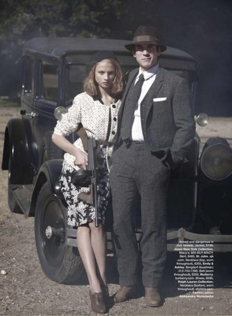 Бонни и Клайд в Harpers Bazaar. Изображение № 2.