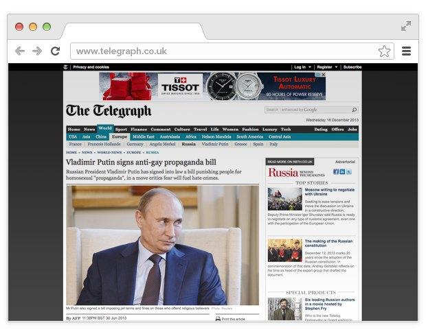 2013 — год России в мире: Россия в новостных лентах. Изображение № 2.
