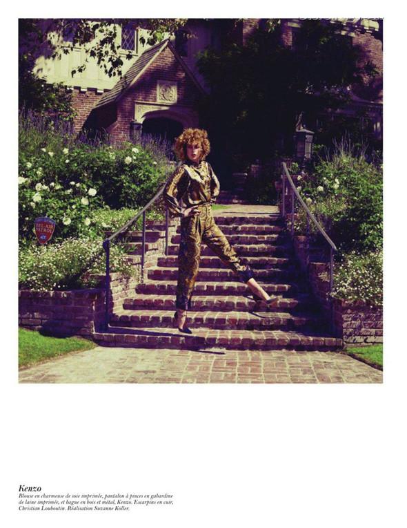 Съёмка: Аризона Мьюз, Лара Стоун, Наташа Поли и другие модели во французском Vogue. Изображение № 12.