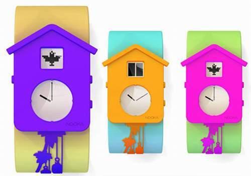 Наручные часы Nooka скукушкой. Изображение № 2.
