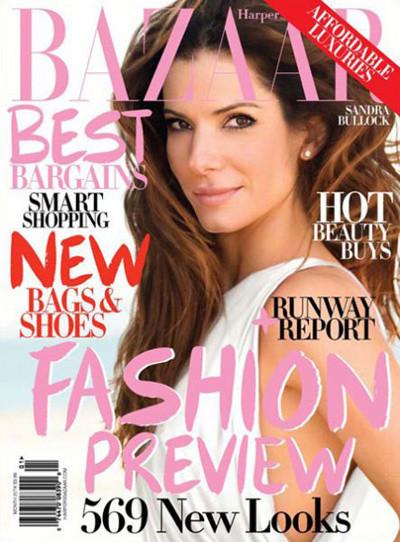 Sandra Bullock, Harper's Bazaar June 2009. Изображение № 1.