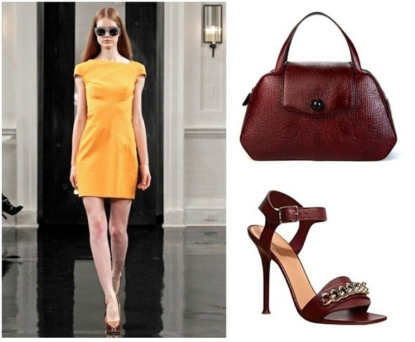Платье Victoria Beckham, сумка Mark Jacobs, туфли Celine. Изображение № 4.