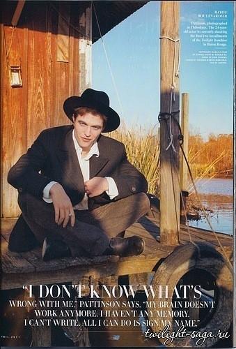 Изображение 1. Robert Pattinson на Vanity Fair Апрель 2011 (США).. Изображение № 1.