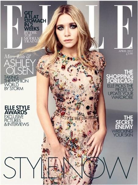 Mary-Kate & Ashley Olsen for UK Elle April 2012. Изображение № 5.