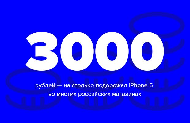 Число дня: на сколько подорожал iPhone 6 в России. Изображение № 1.