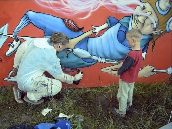 Стас Каневский: граффити во плоти. Изображение № 9.