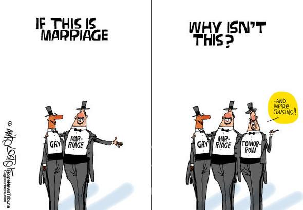 Нью ЛГБТ-Йорк: художники-карикатуристы о легализации однополых браков. Изображение № 6.