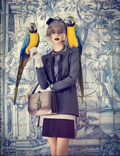 Съёмка: Аугусте Абелюнайте для Vogue. Изображение № 1.