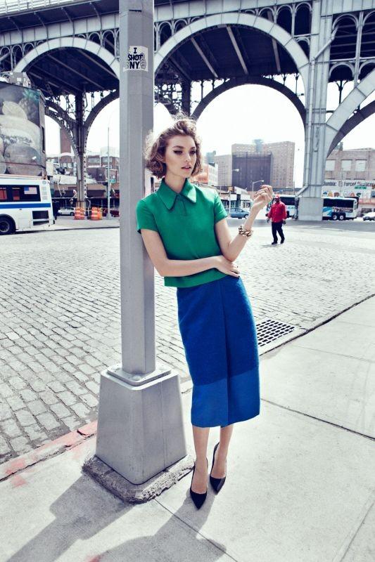 Съёмка: Аризона Мьюз для британского Vogue. Изображение № 2.